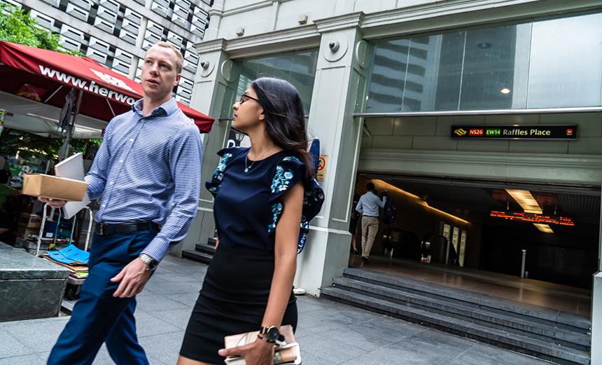 シンガポールのオフィス街