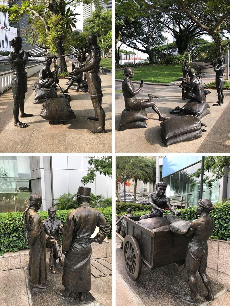 中国人商人やクーリーの像