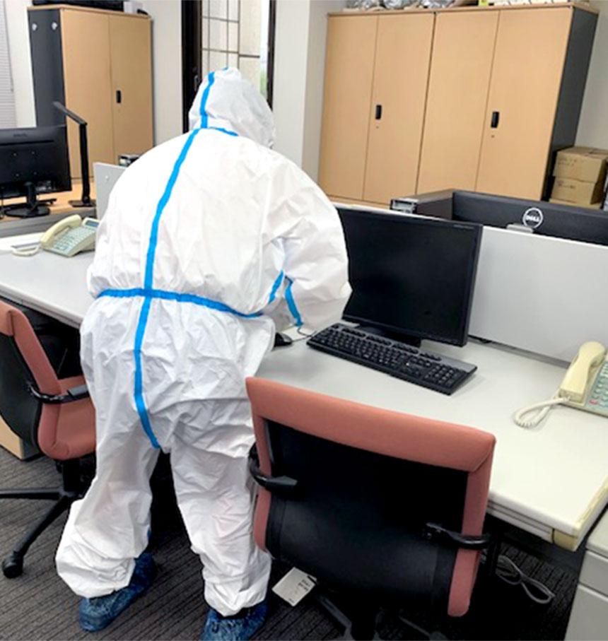 コロナからオフィスを守る消毒